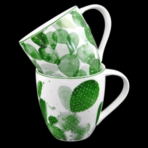 MUG PORCELLANA DEC.CACTUS 400ML WW