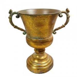 COPPA METALLO ANT.GOLD D.22 H.32,5 DA