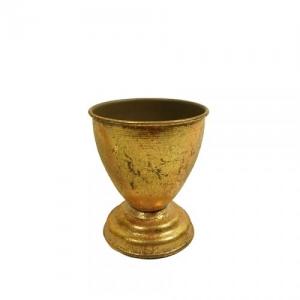 COPPA METALLO ANT.GOLD D.10,5 H.12 DA