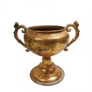 COPPA METALLO ANT.GOLD D.14,5 H.20 DA