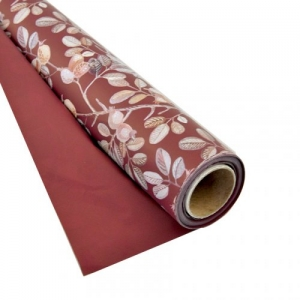 BOBINA PPL PERL.BACCHE DI ROSE BORDEAUX 100X25MT PNP
