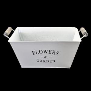 CASSETTA LATTA C/M.FLOWERS&GARDEN 28X20 H.11 DA