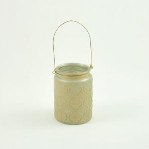 LANTERNA VETRO ANT.GOLD D.9,5 H.13,5 KE