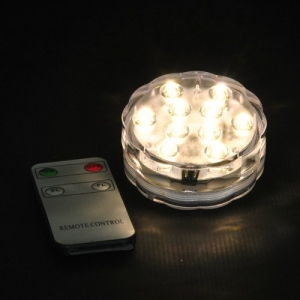 PLACCA 10 LED BATT.(LUCE CALDA)C/TELECOMANDO BC
