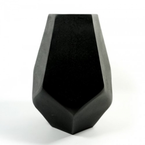 VASO ALLUMINIO DIAMOND NERO H.29,5 ECM