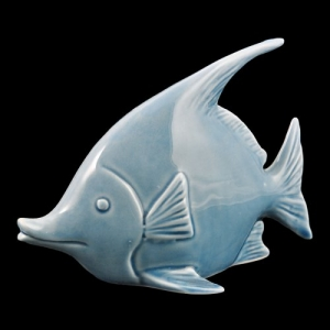 PESCE ANGELO PORCELLANA BLUE 17X9X12 WW