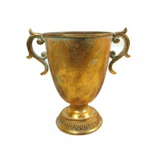COPPA METALLO ANT.GOLD D.16 H.21,5 DA