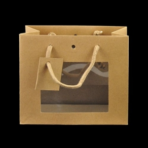 SHOPPER C/FINESTRA 24+14X19,5 KRAFT CF.10 PZ DG